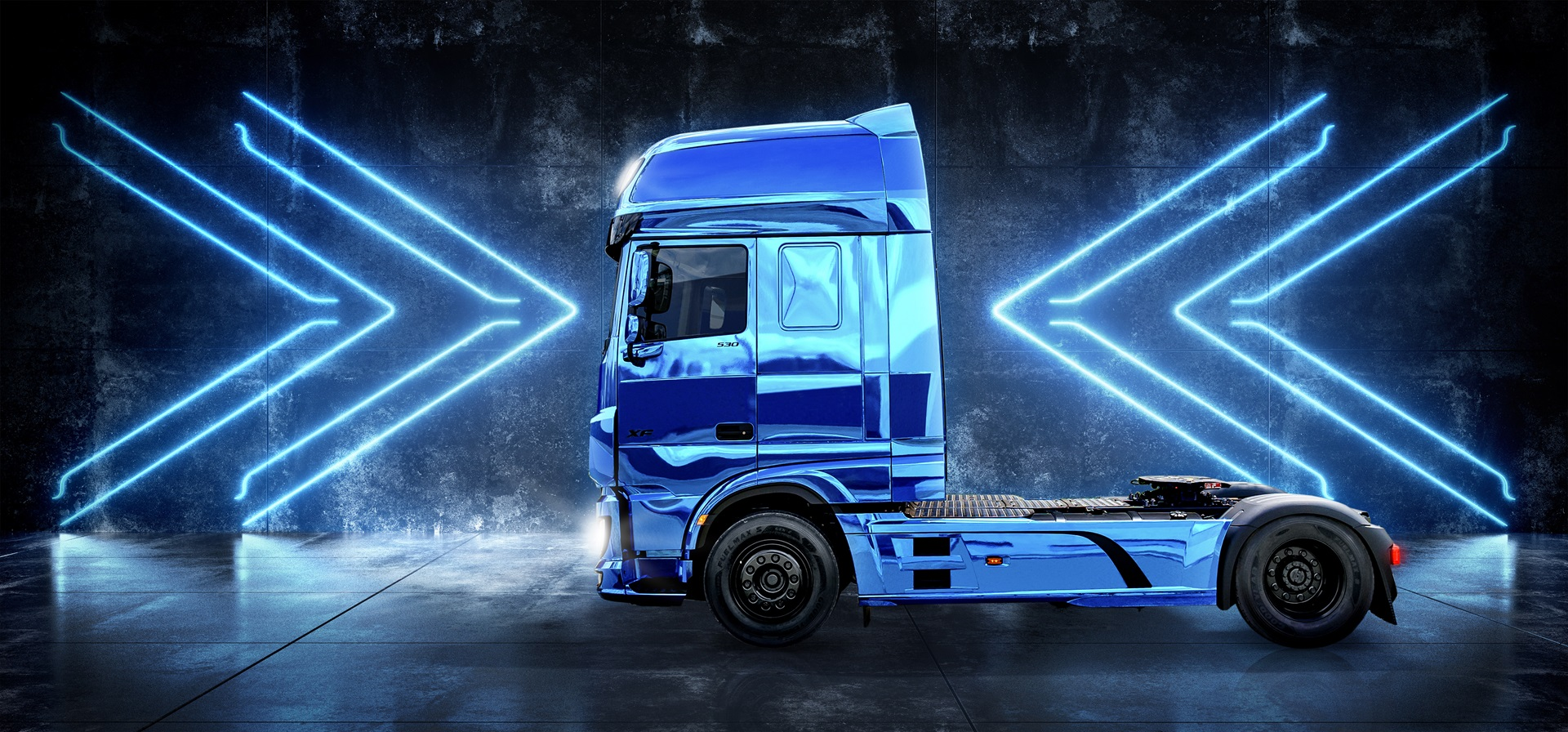DAF XF BLUE Wallpaper Art